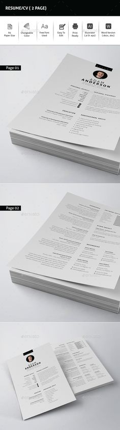 Clean Resume/CV-V17 Resume cv, Cleaning and Cv template