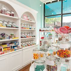 Innovations in the world of candy: gummy tasting flights, small-batch chocolate bars and, for the DIY sweets junkie, new cookbooks for creating perfec. Candy Store Design, Candy Store Display, Store Displays, Retail Displays, Window Displays, Candy Shop, Candy Stores, Nostalgic Candy, Chocolate Shop