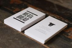 meat & bread business card