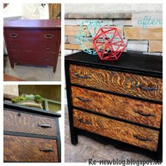 Refinished dresser - look what was under all that ugly old paint! {The Tigress} re-newblog.blogspot.ca