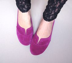 Ciclamino Leather Handmade Soft Oxfords by elehandmade on Etsy,