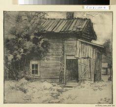 Eero Järnefelt (1863-1937) Vanha mökki / Old cottage 1912 - Finland