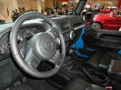Auto Show 2012.  The big Jeep Wrangler interior    Taken by me (Samsung WB700)