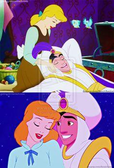 Cinderella/Aladdin by ~gating on deviantART