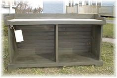 "Open Storage Bench gives you a place to put by the back door for shoes and boots.  36""Wx18""Dx18""H"