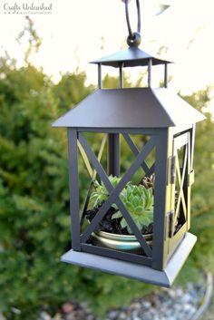 DIY Succulent Planter: Repurposed Lantern- Crafts Unleashed