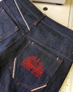 "752c3cb984 FANSUNDENIM on Instagram  ""Used Fansundenim selvedge denim FS5A 13oz 100%  cotton classic indigo the designer  rabbie denim glasgow  handmadejeans ..."