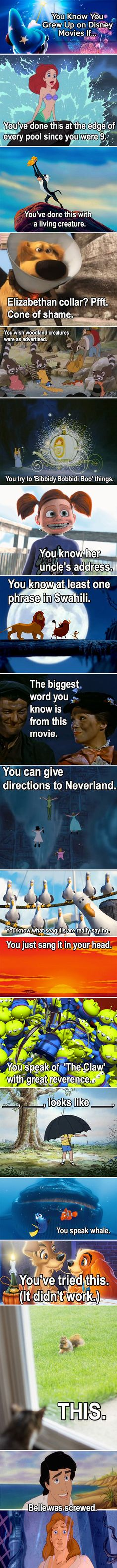 You know you grew up on Disney movies if…