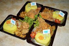 bento nasi kuning untuk anak-anak