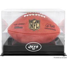 New York Jets Fanatics Authentic Black Base Football Logo Display Case with Mirror Back