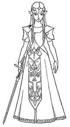 Free Printable Zelda Coloring Pages For Kids Coloring Pages