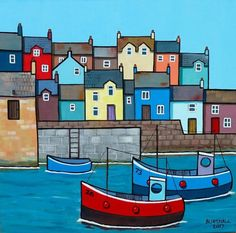 Buy Wharf, Acrylic painting by Paul Bursnall on Artfinder. Discover thousands of other original paintings, prints, sculptures and photography from independent artists. Seaside Art, Beach Art, Watercolor Paintings For Beginners, Watercolor Art, Original Art For Sale, Colorful Paintings, Naive Art, Art For Art Sake, Art Plastique