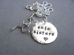 Hand Stamped Runner Necklace by KeeferStyleCreations on Etsy, $29.00
