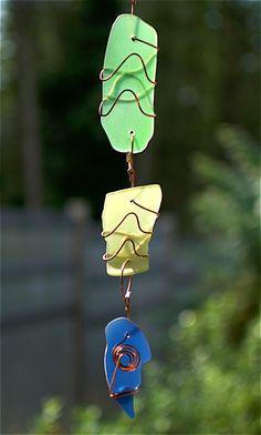 Suncatcher Glass Copper Handcrafted Sun Catcher - Coast Chimes - 2