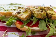 Vegan Smoky Basil Tofu Sandwich Rolls