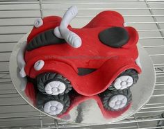 Quad Bike Cake Topper - fondant  Cake by MelSugarMama