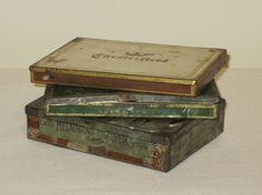 3 Tin Cigarette Boxes Lucky Strikes and Melachrino and by Alveta, $25.00