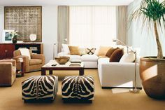 Choosing the Furniture for the Brown Living Room Ideas : Beautiful Living Room Combined With Brown Sofa Furniture Design Ideas