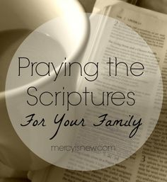 Join me in October as we pray a Scripture each day for our families!