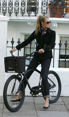 Cute!  Only if you can still look that way after the bike ride to work...Bike chic by Elle