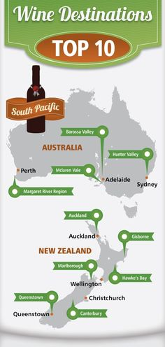 Best wine regions in Australia & New Zealand. Another great reason to travel to the Land Down Under...