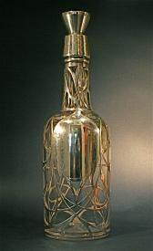 Antique daum nancy cameo glass grand marnier for Liquor bottle vases