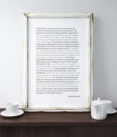 Brene Brown Parenting Manifesto Printable Digital Wall Art