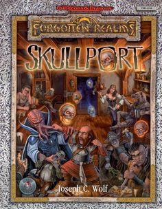 Skullport (2e) - Forgotten Realms | Book cover and interior art for Advanced Dungeons and Dragons 2.0 - Advanced Dungeons & Dragons, D&D, DND, AD&D, ADND, 2nd Edition, 2nd Ed., 2.0, 2E, OSRIC, OSR, d20, fantasy, Roleplaying Game, Role Playing Game, RPG, Wizards of the Coast, WotC, TSR Inc. | Create your own roleplaying game books w/ RPG Bard: www.rpgbard.com | Not Trusty Sword art: click artwork for source