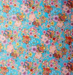 Japanese cotton fabric fat quarter blue by japanmomijidesigns
