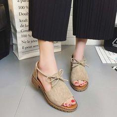 fd41184af4ce Platform Casual Lace-up Suede Summer Sandals