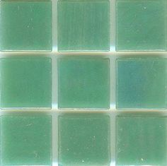"""Brio Pearl Stream - Green Glass Mosaic Tile - Brio Pearl 3/4"""" mosaic glass tile """"Stream Pearl"""" is a beautiful green iridescent tile well suited for any application including kitchen backsplash tile, bathroom tile, floor tile, fireplace tile and pool tile. It comes Face mounted with paper by the 1.15 square foot sheet of 225 tiles. This beautifu"""