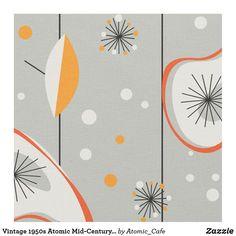 Shop Vintage Atomic Mid-Century Modern Design Fabric created by Atomic_Cafe. 1950s Decor, Decor Vintage, Vintage Ideas, Vintage Cars, Design Vintage, Vintage Trends, Vintage Room, Atomic Decor, Mid Century Decor