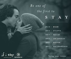 Are you ready for the feels? RSVP for a free #IfIStay screening and after-party with #Refinery29 in your city! http://screenings.ifistaymovie.com | If I Stay