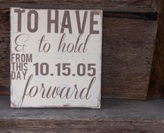FEATURED ITEM: Rustic Wedding sign
