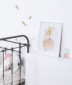 Vinilo infantil dulce de plumas rosas y doradas tipo acuarela - Minimoi