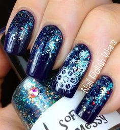 Holo skittles - Christmas Nail Art