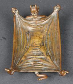 Signed Russell Erwin Mfg Co USA Bronze Devil Satan Art Nouveau Tray Dish 35 | eBay