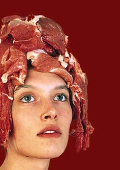 Meat hat, way out of the ordinary.