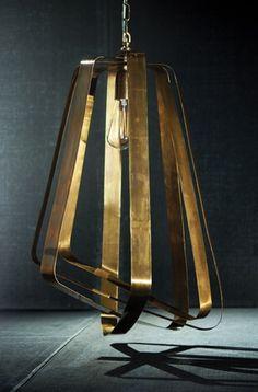 Adele Vintage Brass Pendant Light, 2015 home decor trends, contemporary lighting, urban home decor