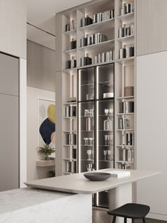 Kitchen & dining area #modernkitchen #kitchendesign #kitcheninterior #diningareadesign #diningareinterior #minimalism #architecture #minimalisticarchitecture #minimalisticinterior #ideasforkitchen Interior Design Kitchen, Joinery, Shelving, Modern, Home Decor, Bathroom, Silver, Instagram, Carving
