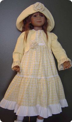 A Summers Day Doll Clothes Pattern for dolls 35 to 37 inches