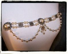 The Duchess Bodice Pearl Costume Jewelry Tudor by RecycledRockstah, $32.00