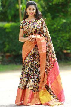 Discover thousands of images about Narayanpet Designer Sarees - Master Weaver Ethnics India Cotton Saree Designs, Pattu Saree Blouse Designs, Half Saree Designs, Saree Blouse Patterns, Choli Designs, Sambalpuri Saree, Kalamkari Saree, Banaras Sarees, Bridal Silk Saree