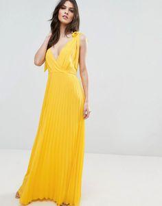 #ASOS - #ASOS ASOS Cami Strap Tie Pleated Maxi Dress - Multi - AdoreWe.com