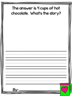Word Problem Extension: from Hello Winter A Book of Wonderful Word Problems What Happens in First Grade Second Grade Math, First Grade Classroom, Math Classroom, Kindergarten Math, Grade 2, Classroom Ideas, Circus Classroom, Math Writing, Teaching Writing