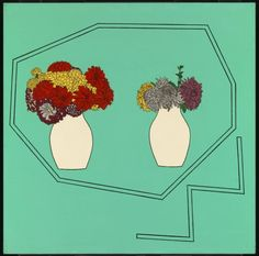 Patrick Caulfield 'Vases of Flowers', 1962 © The estate of Patrick Caulfield