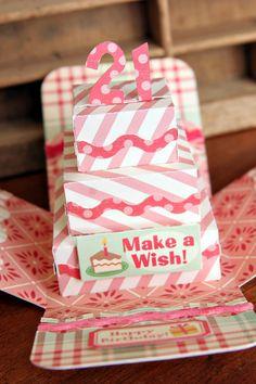 B-Day cake exploding box