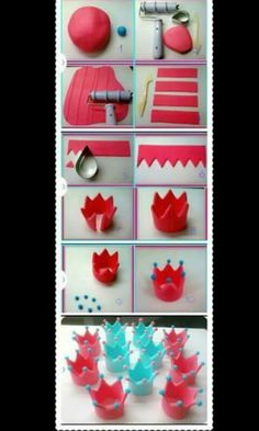 New cupcakes fondant decoration desserts Ideas Fondant Cupcakes, Fondant Crown, Fondant Icing, Fondant Toppers, Cupcake Cakes, Crown Cake, Fondant Tips, Fondant Wedding Cakes, Frosting Tips