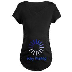 laodingyisndie Maternity Dark T-Shirt Baby Loading Maternity Maternity Dark T-Shirt by Hey That's Punny - CafePress Pregnancy Humor, Pregnancy Shirts, Cute Maternity Shirts, Gender Reveal Shirts, Funny Shirts, Graphic Tees, Baby, T Shirt, Women