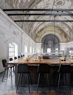 bar stools DZine Trip | Church transformed into a high-end restaurant in Antwerp | http://dzinetrip.com